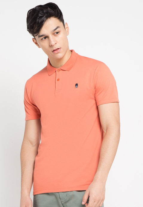 Guardian MMIX A17 Polo Shirts Coral Pink - Skellyshop Singapore | Skelly Original Poloshirts | skellyshop.co.uk