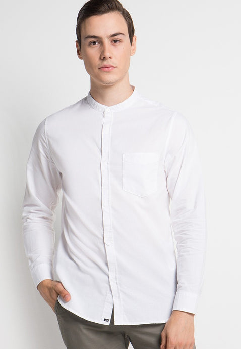 Alan Shirt in White Oxford - Skellyshop Singapore | Skelly Collective Shirts | skellyshop.co.uk