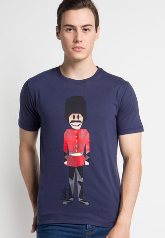 Royal Guard MMIX Graphic T-shirts in Blue Bottle - Skellyshop Singapore | Skelly Original T-Shirts | skellyshop.co.uk