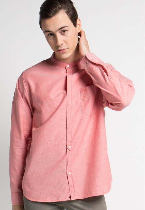 Alan Shirt in Red Oxford - Skellyshop Singapore | Skelly Collective Shirts | skellyshop.co.uk