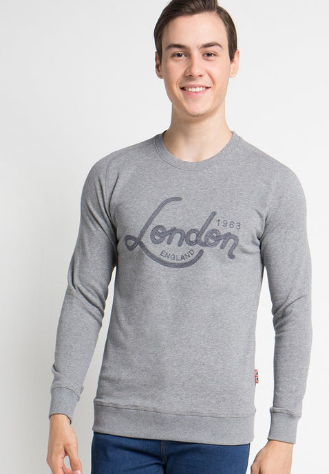 London Brit Wave Logo Foggy Grey