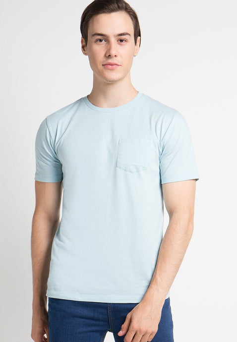 Crew Neck Pocket T-shirts