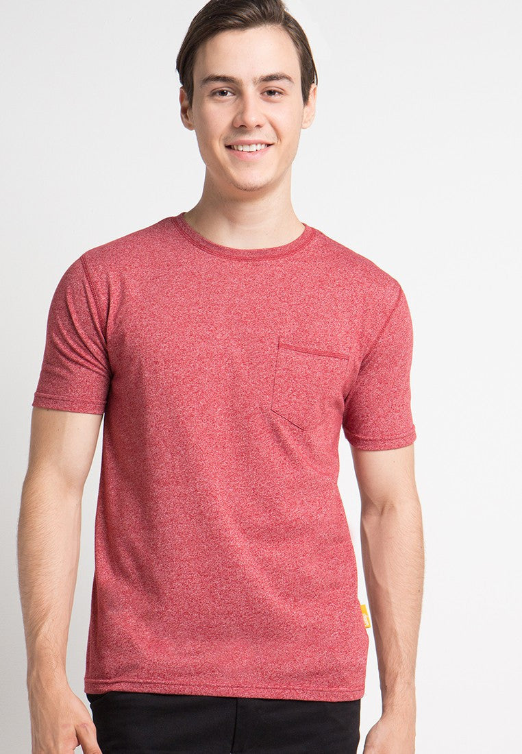 Athletic Pocket T-shirts in Red - Skellyshop Singapore | Skelly Original T-Shirts | skellyshop.co.uk
