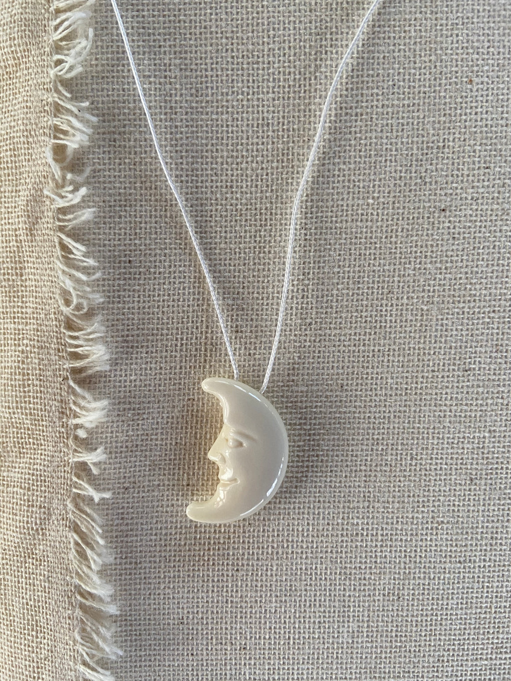 Crescent Moon Face Necklace