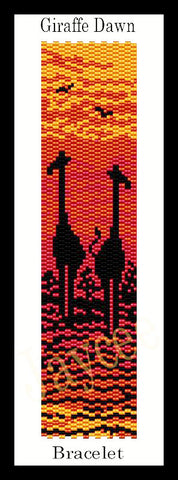 Bead Pattern - Giraffe Dawn Bracelet - Even Count 2 Drop Peyote Stitch