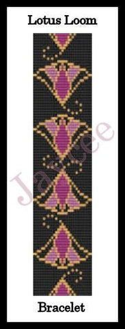 Bead Pattern - Egyptian Lotus x 2 - Loom and Odd Count Peyote Stitch