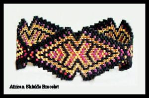Bead Pattern - African Shields Bracelet - Advanced Peyote Stitch