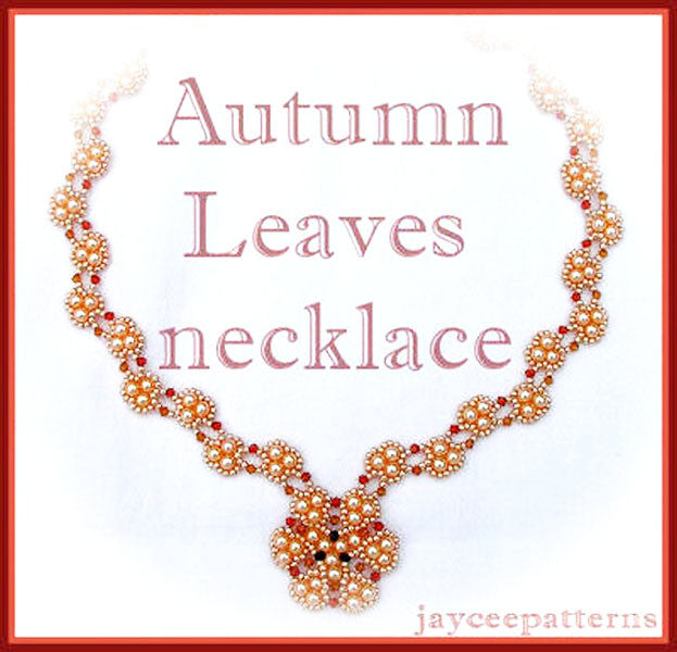 Bead Tutorial - Autumn Leaves Necklace - Triangle Weave