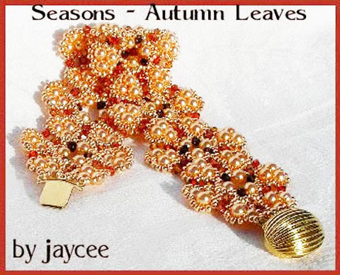 Bead Tutorial - Autumn Leaves Bracelet - Triangle Weave and Netting Stitch