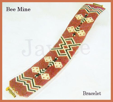 Bead Pattern - Bee Mine Bracelet - Odd Count Peyote Stitch