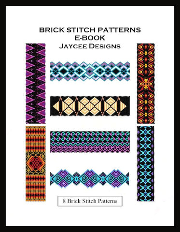 Ebook - Bead Patterns - 8 Brick stitch bracelet patterns