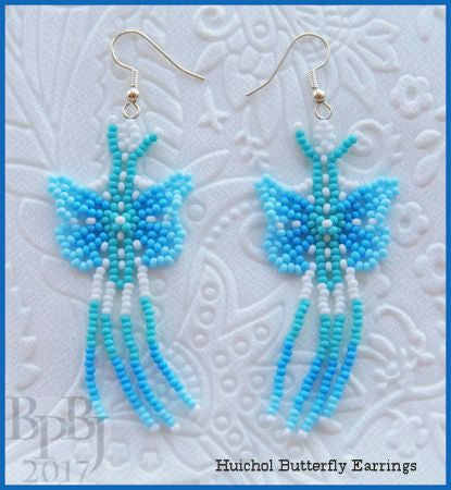 Bead Tutorial - Huichol Butterfly Earrings