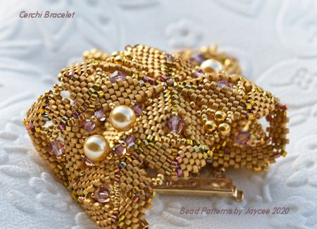 Bead Tutorial - Cerchi Bracelet - Shaped Peyote