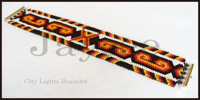 Bead Pattern - City Lights Bracelet - Odd count peyote