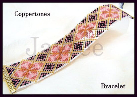 Bead Pattern - Coppertones Bracelet - Loom or Square Stitch