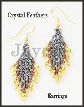 Bead Tutorial - Crystal Feathers Earrings - St Petersberg and Netting Stitch