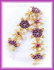 Bead Tutorial - Crystal Mosaic Bracelet - Triangle Weave and Netting Stitch