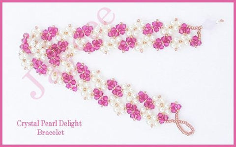 Bead Tutorial - Crystal Pearl Delight Bracelet - Triangle Weave