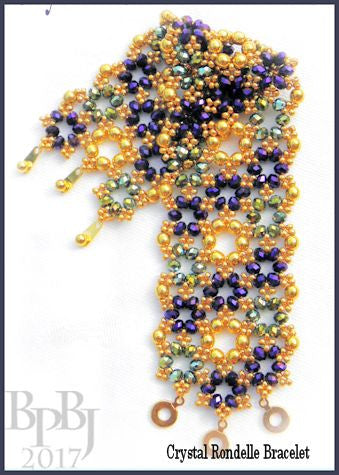 Bead Tutorial - Crystal Rondelle Bracelet - Netting Stitch