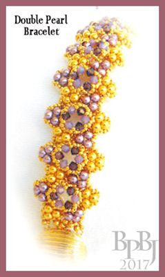 Bead Tutorial - Double Pearl Bracelet - Triangle Weave and Netting Stitch