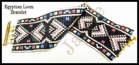 Bead Pattern - Egyptian Bracelet - Loom Stitch
