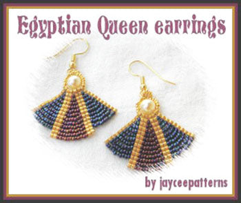 Bead Tutorial - Egyptian Queen Earrings - Ladder and Netting stitch