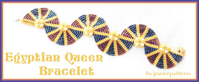 Bead Tutorial - Egyptian Queen Bracelet - Ladder Stitch and Netting Stitch