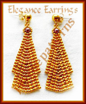 Bead Tutorial - Elegance Earrings - Ladder Stitch and Netting Stitch