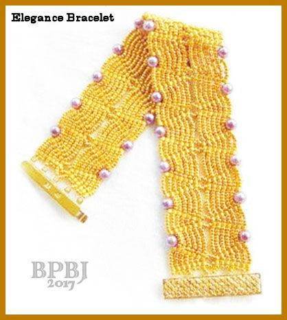 Bead Tutorial - Elegance Bracelet - Netting Stitch and Ladder Stitch