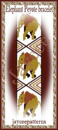 Bead Pattern - African Elephant Peyote - Even Count Peyote Stitch