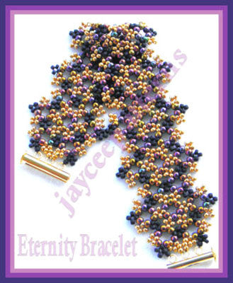 Bead Tutorial - Eternity Bracelet - Netting Stitch