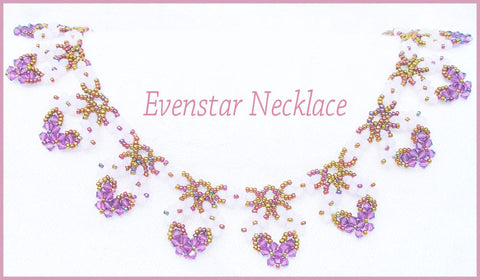 Bead Tutorial - Evenstar Necklace - Netting stitch and triangle weave