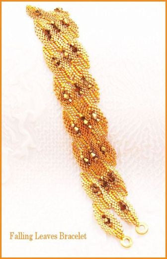 Bead Tutorial - Falling Leaves Bracelet - Shaped Peyote Stitch