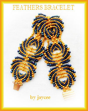 Bead Tutorial - Feathers Bracelet - Peyote stitch