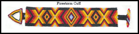 Bead Pattern - Firestorm Cuff - Odd Count Peyote Stitch