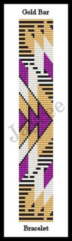 Bead Pattern - Gold Bar - Loom Stitch