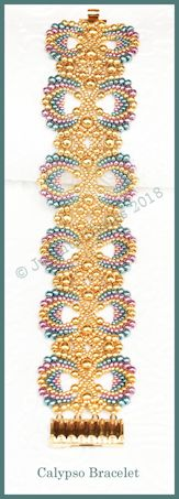 Bead Tutorial - Calypso Bracelet - Peyote and Netting Stitch