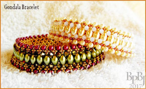 Bead Tutorial - Gondola Bracelet - Embellished Netting Stitch