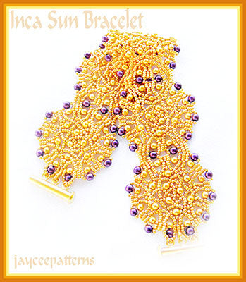 Bead Tutorial - Inca Sun Bracelet - Netting Stitch
