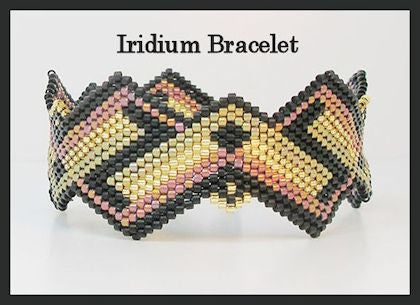Bead Pattern - Iridium Bracelet - Brick stitch