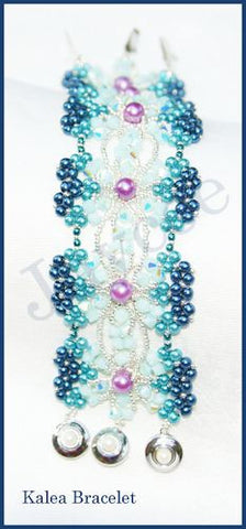 Bead Tutorial - Kalea Bracelet - Triangle Weave and Netting Stitch