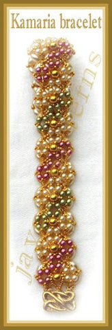 Bead Tutorial - Kamaria Bracelet - Embellished Right Angle Weave