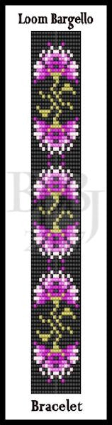 Bead Pattern - Loom Bargello Bracelet - Loom or Square Stitch