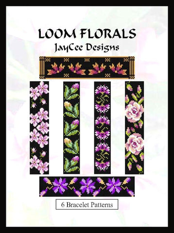 Ebook - 6 Loom Floral Bracelet Patterns
