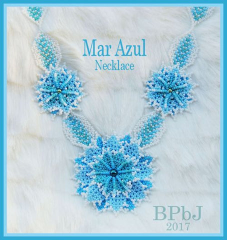 Bead Tutorial - Mar Azul Necklace - Huichol Stitch