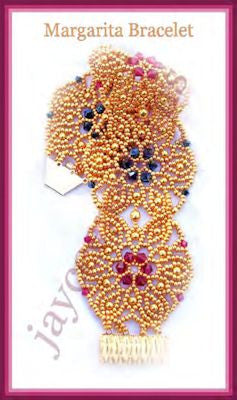 Bead Tutorial - Margarita Bracelet - Netting stitch