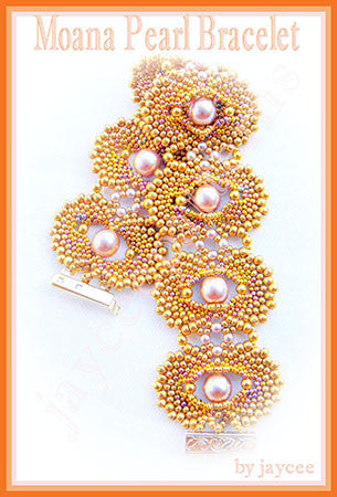 Bead Tutorial - Moana Pearl Bracelet - Peyote and Netting stitch