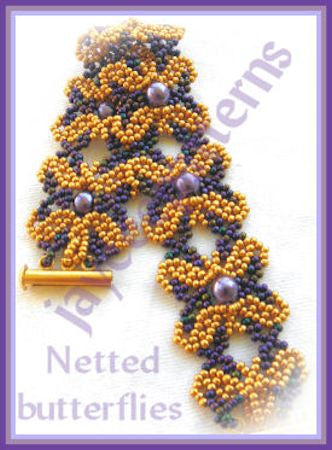 FREE Bead Tutorial - Netted Butterfly Pattern - Netting stitch