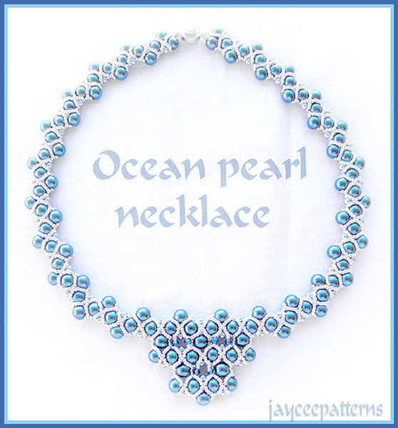 Bead Tutorial - Ocean Pearl Necklace - Embellished RAW