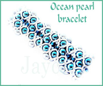 Bead Tutorial - Ocean Pearl Bracelet - Embellished RAW